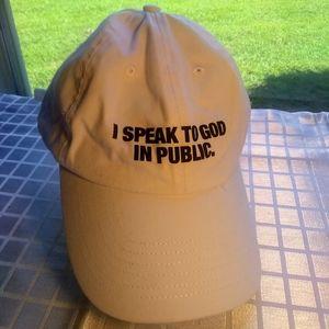 I Speak to God in Public Hat Unisex 100% Cotton
